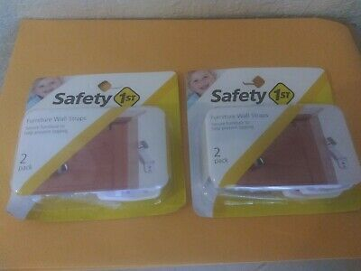 Safety 1st Furniture Wall Straps Lot Of 2-2 pk Child Baby Proofing Free Shipping