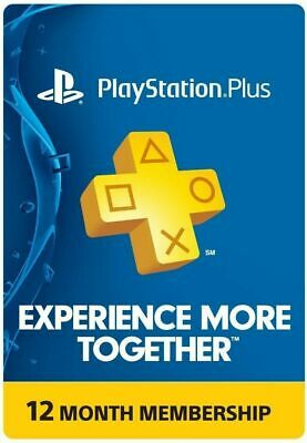 Sony PlayStation Plus 1 Year Membership Subscription -Instant Delivery/Download