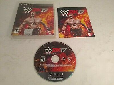PS3 WWE 2K17 Brock Lesnar Pro Wrestling Sony PlayStation 3 Complete with Manual