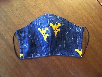 WEST VIRGINIA UNIVERSITY - WVU Protective Face Mask #4  Washable - FREE US SHIPG