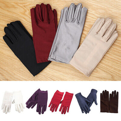 Gloves Paragraph Elastic Thin Spandex Unisex Ceremonial Men Women Summer Mittens