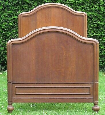 Beautiful French Solid Oak Single ( 3 feet wide ) Bed with Pine Base