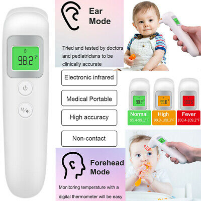 Non-contact LCD Digital Infrated Ear Forehead Thermometer Gun Baby Adult Body IR