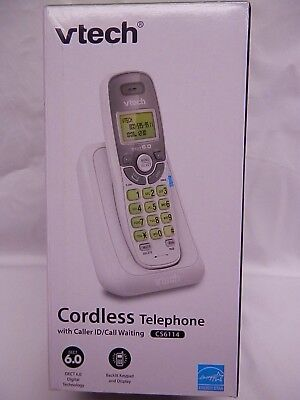 Vtech*Cs6114* Cordless Telephone With Caller Id/Call Waiting *White*