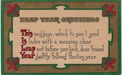 Leap Year Greetings 1910