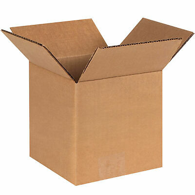 """6"""" x 6"""" x 6"""" Cube Cardboard Corrugated Boxes, 65 lbs Capacity, 200#/ECT-32, Lot"""