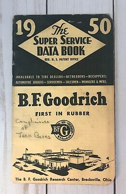 Vintage BF Goodrich 1950 The Super Service Data Book