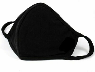 Pack Of 3 x Black Reusable Face Cover Anti Fog Face Cloth Washable Anti Dust UK