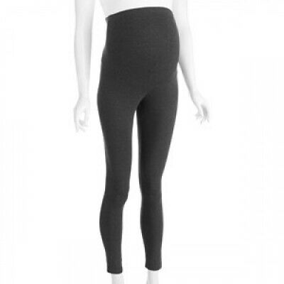 (charcoal, s) - Oh! Mamma Full Panel Maternity Leggings -- Available in Plus