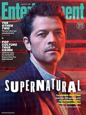 Entertainment Weekly Magazine (Jan 2019) SUPERNATURAL - Cover 3; Misha Collins