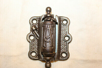 Antique Cast Iron Victorian Spring Loaded Screen Door Hinge Marked CA