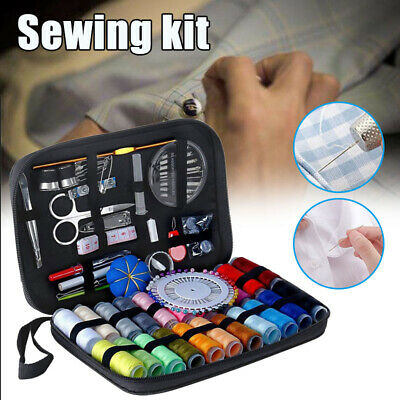 126Pcs Sewing Kit Scissors Needle Thread For Home Stitching Hand Sewing Tool US