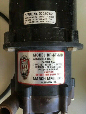 March Mfg. TE-6T-MD Magnetic Drive Centrifugal Pump