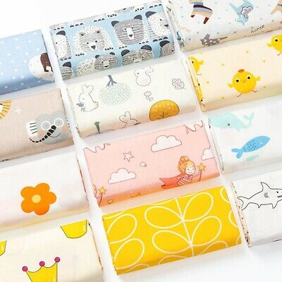 Children Fabric Nursery Kids Baby 100% COTTON Material Boy andGirl Owls Princess