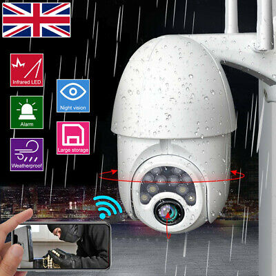 1080P WIFI IP Camera Wireless Outdoor CCTV HD PTZ Smart Home Security IR Cam UK