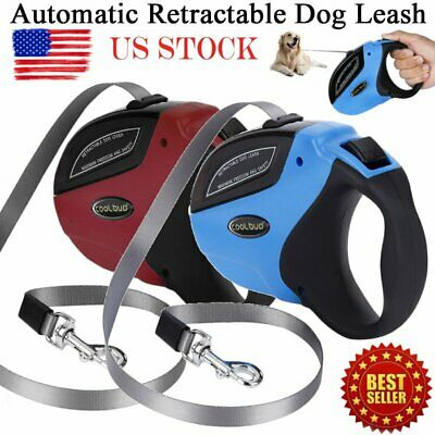 5M/16FT Retractable Dog Leash Pet Automatic Walking Lead Tangle Free Head Collar