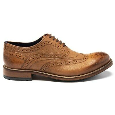 New Mens Ted Baker Tan Guri Leather Shoes Brogue Lace Up