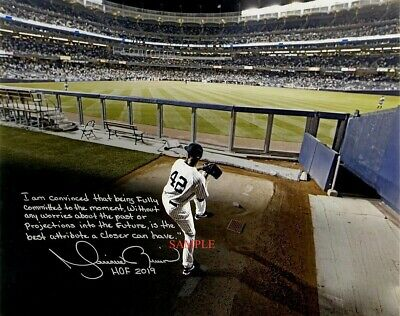Mariano Rivera Signed Autographed Reprint Photo Photograph RP New York Yankees