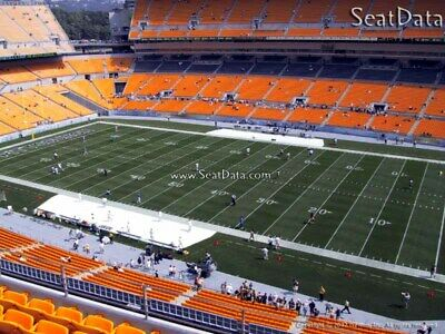 (3) Steelers vs Broncos Tickets Upper Level 10 Yard Line Section 538 row W!!