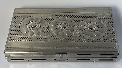 STANLEY SZWARC 1928-2011 Outsider Art Modernist Folk Art Stainless Steel Box #1