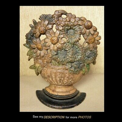 Antique Hubley Cast Iron Doorstop Daisy Bowl