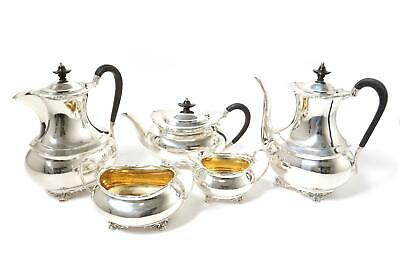 Sterling silver tea and coffee set, 5 items. England, Sheffield, year 1909