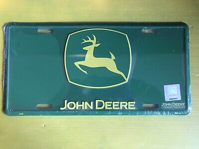 "JOHN DEERE LICENSE PLATE 6""X12"" New In Plastic Official Licensed Product"