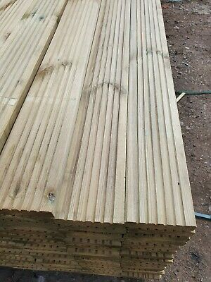 Decking 25 Boards DELIVERY FREE Pressure Treated REDWOOD  3.6m X 120mm X28mm....