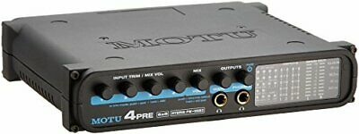 Motu 4Pre 6 In 8 Out Firewire / Usb2 Audio Interface Model With 4Ch Microphone