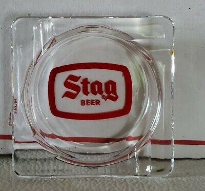 Vintage *STAG BEER* Glass Ashtray