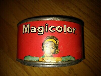 Vintage Majicolor Epoxy Tin Great Graphics Nice