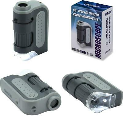 Carson Microbrite Plus 60X-120X Led Lighted Pocket Microscope With Aspheric Lens