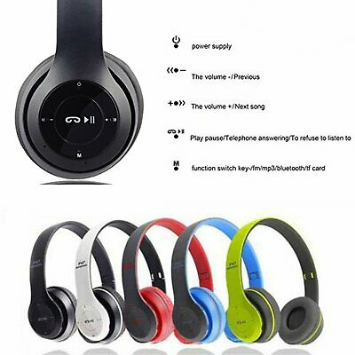 Bluetooth Wireless Headphones Over Ear Foldable Stereo Noise Cancelling Headset.