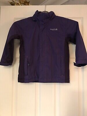 Regatta Hydrafort Purple Hooded Waterproof Coat Age 3-4 Years