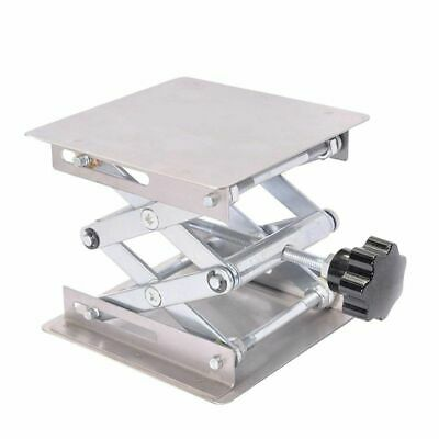3X(Scientific Lab Jack-100 x 100mm Stainless Steel Lab Stand Table Rack Sci M2D1