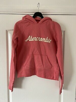 ABERCROMBIE & FITCH Girl's Pink Pullover Hoodie - Size Medium