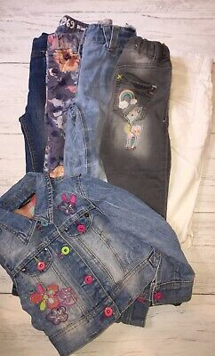 Girls Age 4-5 Bundle Jeans Jeggings Denim Jacket Blue Next Gap VGC