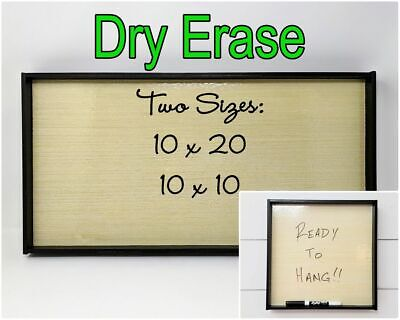 Framed Wooden Dry Erase Board Ready To Hang - Size Options