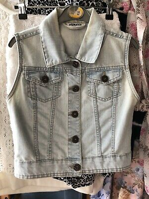 Girls Blue Denim Waistcoat Age 12-13 Years, Pockets, Generation New Look