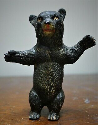 "Vintage Black Forest Type Little 2-1/2"" Standing Black Bear"