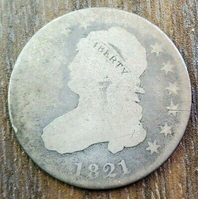1821 Capped Bust Quarter Good-Very Good