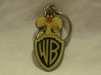 vintage 1993 Warner Brothers WB Sylvester key chain enamel metal animated cat