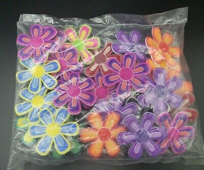 24 Units Large Flower Jibbitz Crocs Shoe Charm Multicolor Pink Purple Blue Green