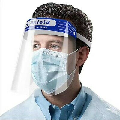 5PCS Safety Full Face Shield Clear Protector Work Medical Dental, Standard Size