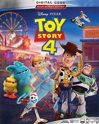 Toy Story 4 (2020 Digital code) Brand New Free Delivery USA