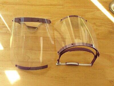 3 x FULL FACE PPE SHIELDS PROTECTIVE VISORS REUSABLE SOLD AT COST UK MADE