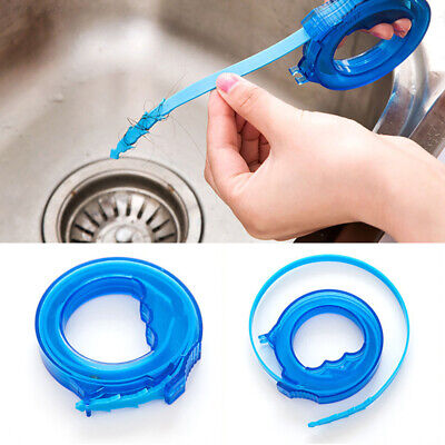 93D3 Adjustable Drain Hair Removal Tool Dredge Sewer Hook Bathroom Kitchen Sink