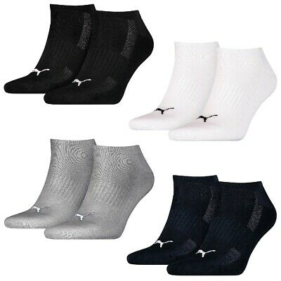 6 Paire Puma Baskets Chaussettes Frottee-Sohle Gr. 35 - 46 Unisexe Amorti