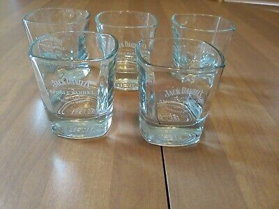 5 Jack Daniels Single Barrel Select Square Weighted Bottom Whiskey Glasses
