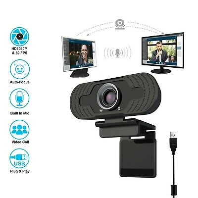 Webcam 1080P HD Microphone Computer USB Web Camera Conference Video Home